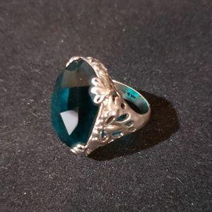 Silpada .925 SS Blue Caspian Sea Ring